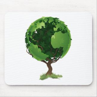 Kugelweltbaumkonzept Mauspads