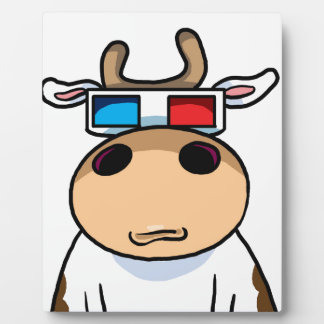 Kuh 3d fotoplatte