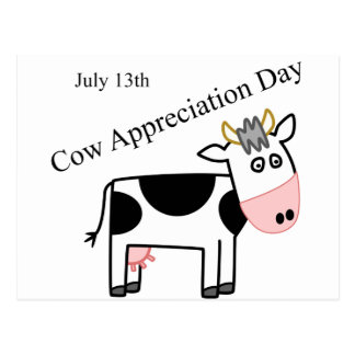 Kuh-Anerkennungs-Tag gerade ein anderer Feiertag Postkarte