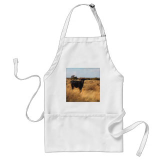 Kuh auf der Strecke Schürze