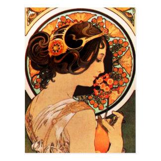 Kuh-Beleg-Postkarte Alphonse Mucha Postkarte