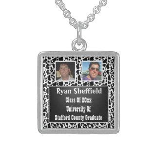Kuh beschmutzt Foto-Abschluss der Tafel-2 Sterling Silberkette