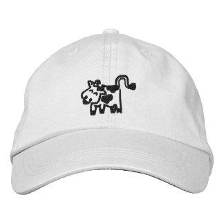 Kuh Bestickte Kappe