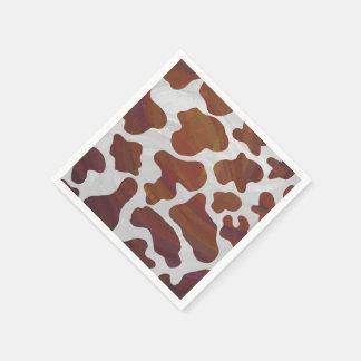Kuh Brown und weißer Druck Papierservietten