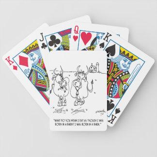 Kuh-Cartoon 3348 Bicycle Spielkarten