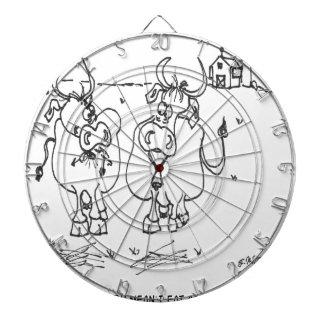 Kuh-Cartoon 3348 Dartscheibe