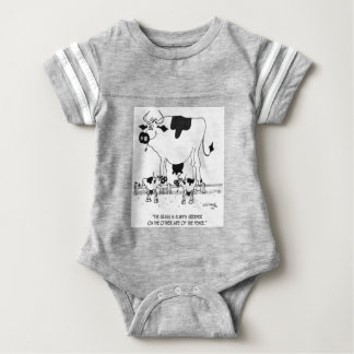 Kuh-Cartoon 3372 Baby Strampler