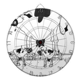 Kuh-Cartoon 3372 Dartscheibe