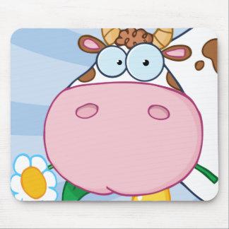 Kuh-Cartoon-Charakter Mauspad