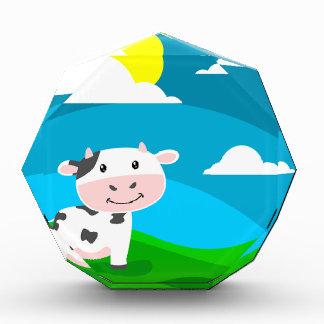Kuh-Charakter Acryl Auszeichnung