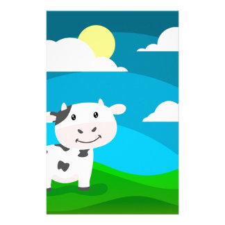 Kuh-Charakter Briefpapier