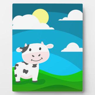Kuh-Charakter Fotoplatte