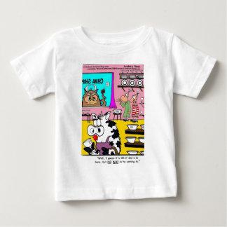 Kuh China-Geschäfts-in den lustigen Baby T-shirt