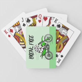 Kuh, die ein Motorcyle reitet Spielkarten