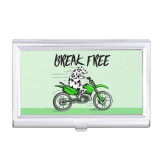 Kuh, die ein Motorcyle reitet Visitenkarten Etui