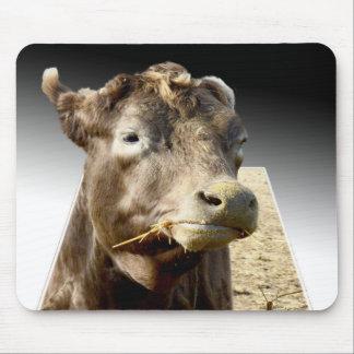 Kuh, die Heu, Popout-Kunst Mousepad kaut
