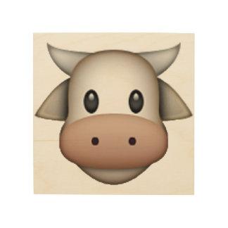 Kuh - Emoji Holzleinwand