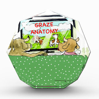 Kuh Fernsehshow-lustiger Cartoon Acryl Auszeichnung