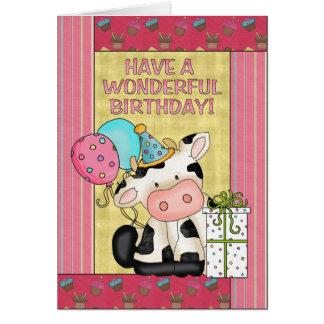 Kuh-Geburtstagsgrußkarte Karte
