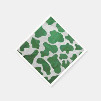 Kuh-grüner und weißer Druck Papierserviette