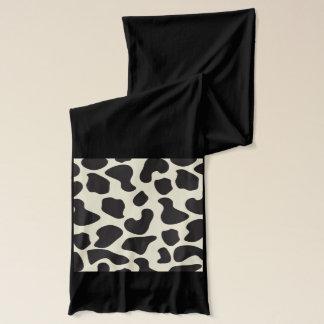 Kuh-Haut-Kuh-Muster Schal