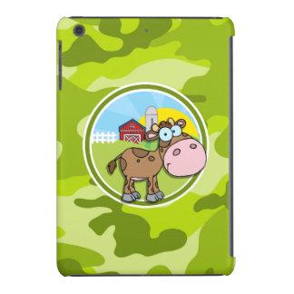 Kuh; hellgrüne Camouflage, Tarnung iPad Mini Retina Cover