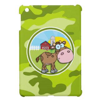 Kuh; hellgrüne Camouflage, Tarnung Hülle Für iPad Mini