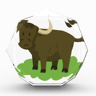 Kuh im Gras Acryl Auszeichnung