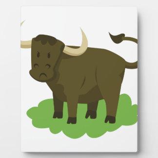 Kuh im Gras Fotoplatte