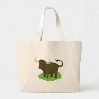 Kuh im Gras Jumbo Stoffbeutel