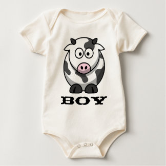 Kuh-Junge/Cowboy Baby Strampler