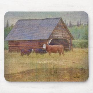 Kuh-, Kalb-, Halle-und Weiden-Vieh-Ranch-Kunst Mauspads