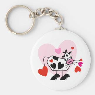 Kuh-Liebhaber Schlüsselanhänger