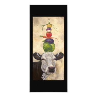 Kuh mit flacher Karte der Veggies 10,2 X 23,5 Cm Einladungskarte