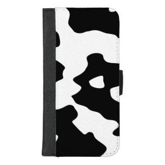 Kuh-Muster Schwarzweiss iPhone 8/7 Plus Geldbeutel-Hülle
