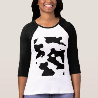 Kuh-Muster Schwarzweiss T-Shirt