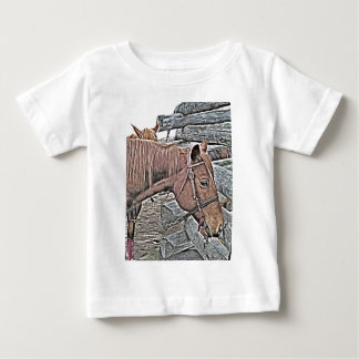 Kuh-Pferd wartete Baby T-shirt