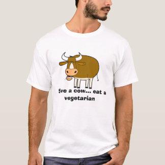 Kuh, retten eine Kuh… essen einen Vegetarier T-Shirt