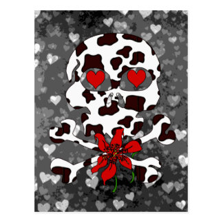 Kuh-Schädel-Valentinsgruß Postkarte
