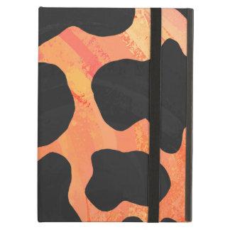 Kuh-schwarzer und orange Druck