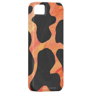 Kuh-schwarzer und orange Druck Hülle Fürs iPhone 5