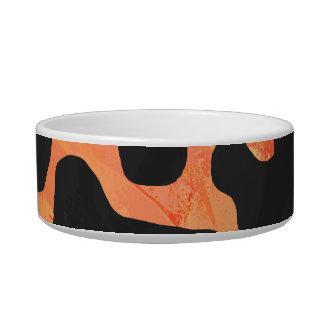 Kuh-schwarzer und orange Druck Napf
