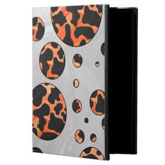 Kuh-schwarzer und orange Tupfen-Druck