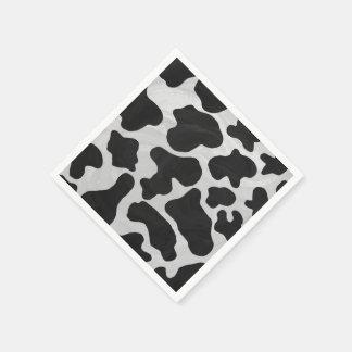 Kuh-Schwarzweiss-Druck Papierservietten