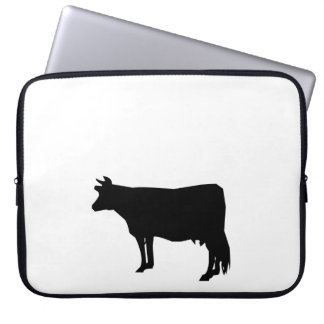 Kuh-Silhouette Laptop Schutzhülle