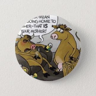 Kuh-Stier-Scheidungs-lustige Cartoon-Geschenke u. Runder Button 5,1 Cm