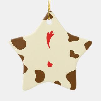 Kuh und Huhn Keramik Ornament