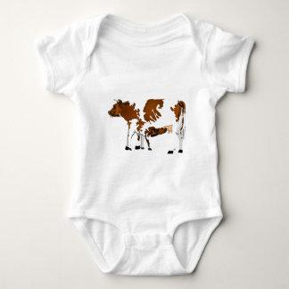 Kuh und Kalb Baby Strampler