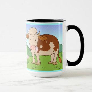 Kühe auf dem Berg Tasse