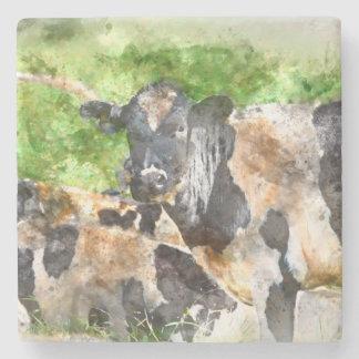 Kühe auf dem Gebiet Steinuntersetzer